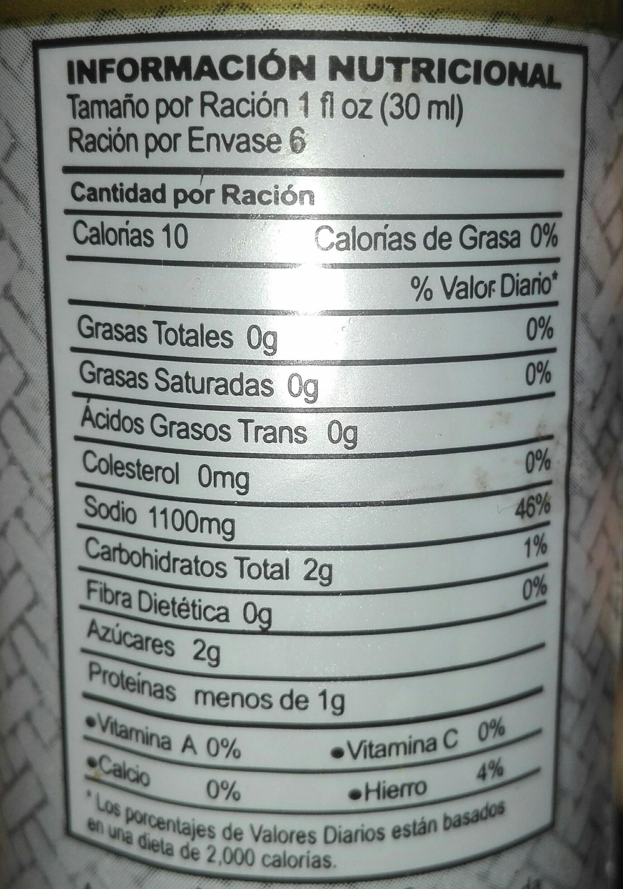 Salsa de Soja - Nutrition facts - es
