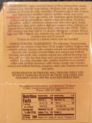 Tortuga Caribbean Rum Cake - Ingredients - en