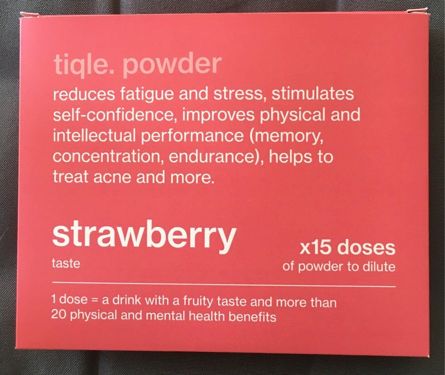 Tiqle sticks boisson goût fraise - Product