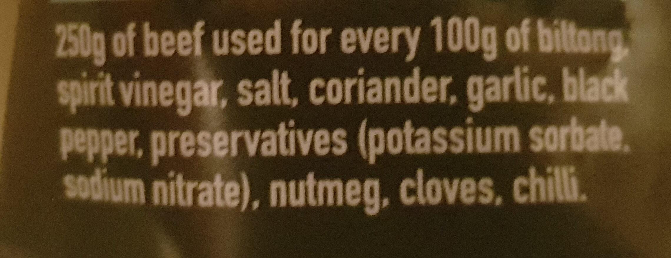 Biltong - Ingredients