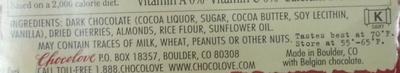 Cherries & Almonds in Dark Chocolate - Ingredients