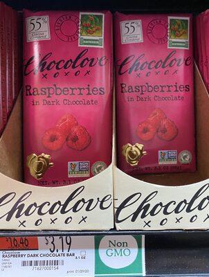 Dark Chocolate Bar, Raspberry - Product - en