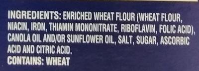 Traditional Water Crackers - Ingrédients - en