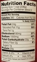 Corned Beed Hash - Nutrition facts - en