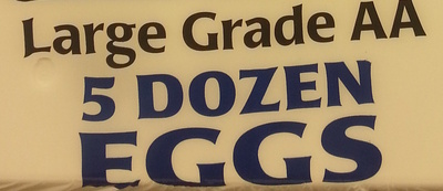 Large Grade AA 5 Dozen Eggs - Ingredients - en