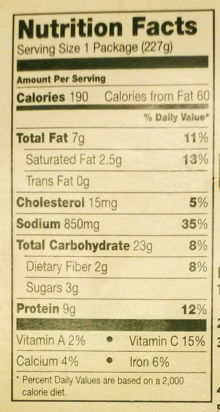 Mealtoaf with mashed potatoes & gravy - Nutrition facts - en