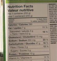 Penne primavera - Nutrition facts - fr