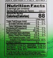 Aloe Vera Drink - Nutrition facts - en