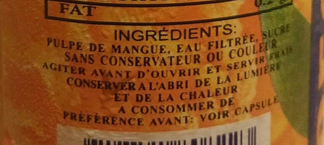 Nectar de mangue - Ingrediënten - fr