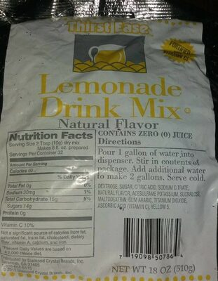 Thirst ease lemonade drink mix - Product - en