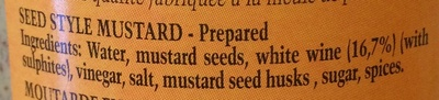 Seed Style Mustard - Ingredients