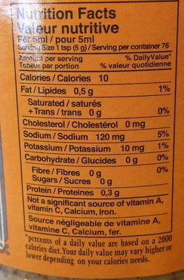 Seed Style Mustard - Nutrition facts