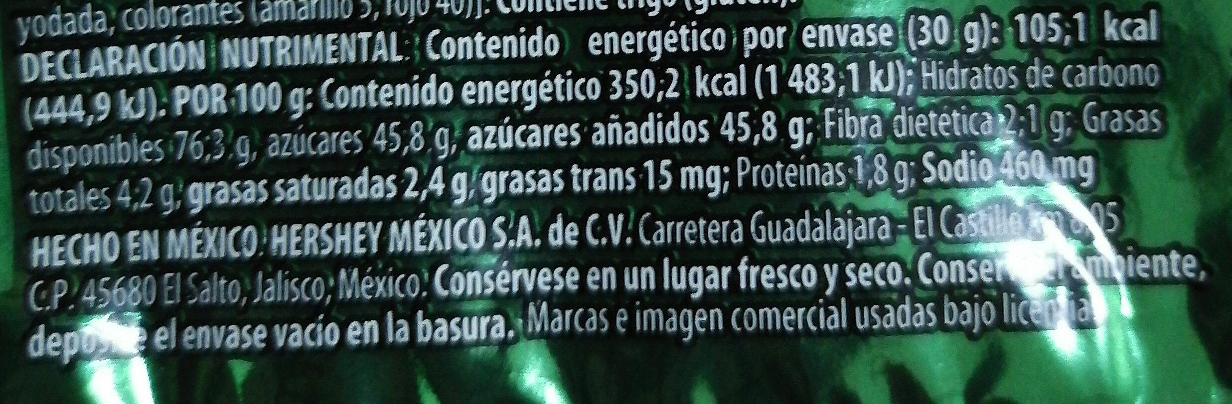Pelón Gomitiraz - Información nutricional - es