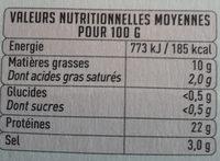 saumon pure origine - Nutrition facts