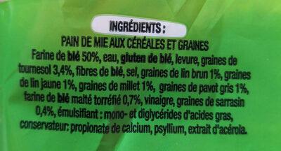 Toastiligne Céréales - Ingrédients - fr