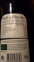 huile d'olive vierge extra - Ingredients