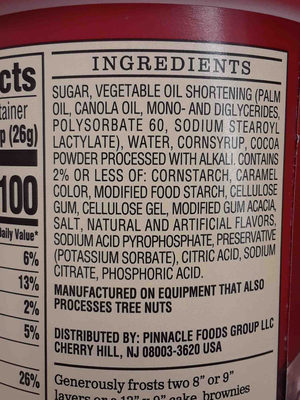 duncan hines whipped frosting - Ingredients - en