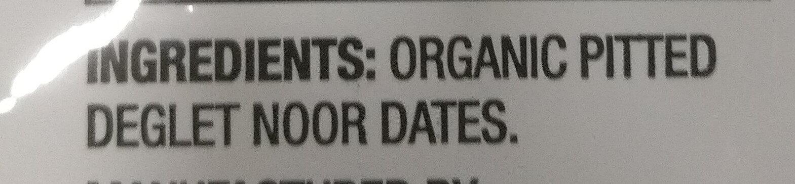 Organic Dried Dates - Ingrédients - en