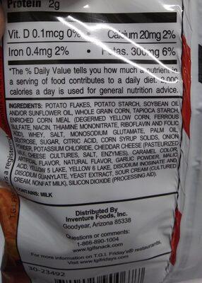 potato skins chips - Ingredients - en