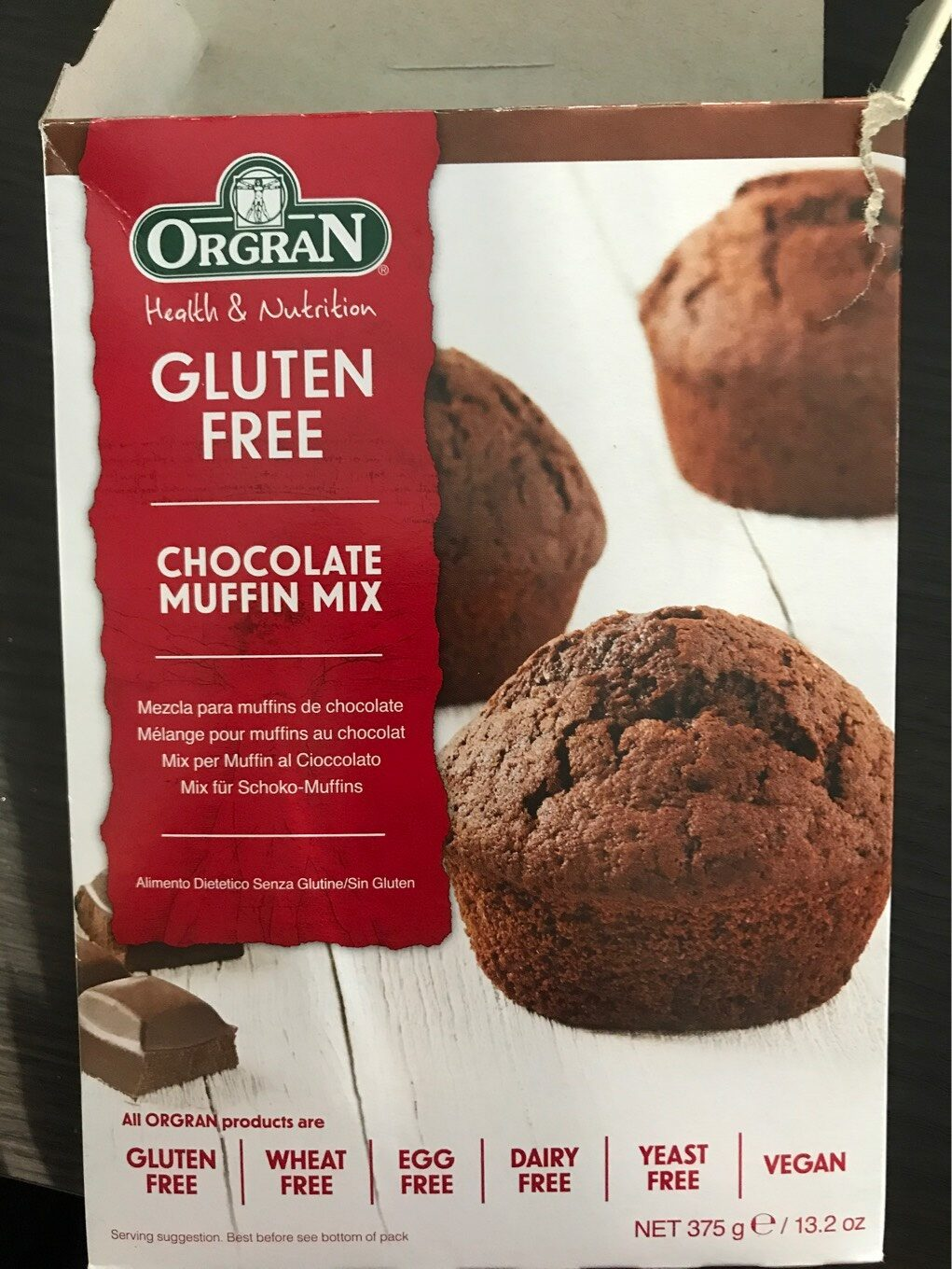 Orgran Muffin Mix Chocolate - Nutrition facts - en
