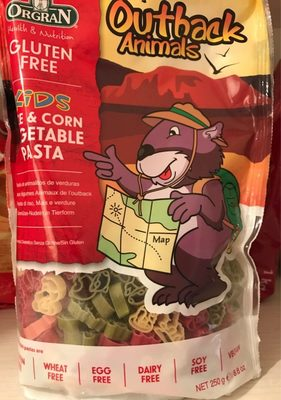 Orgran, outback animals vegetable pasta shapes - Product - en