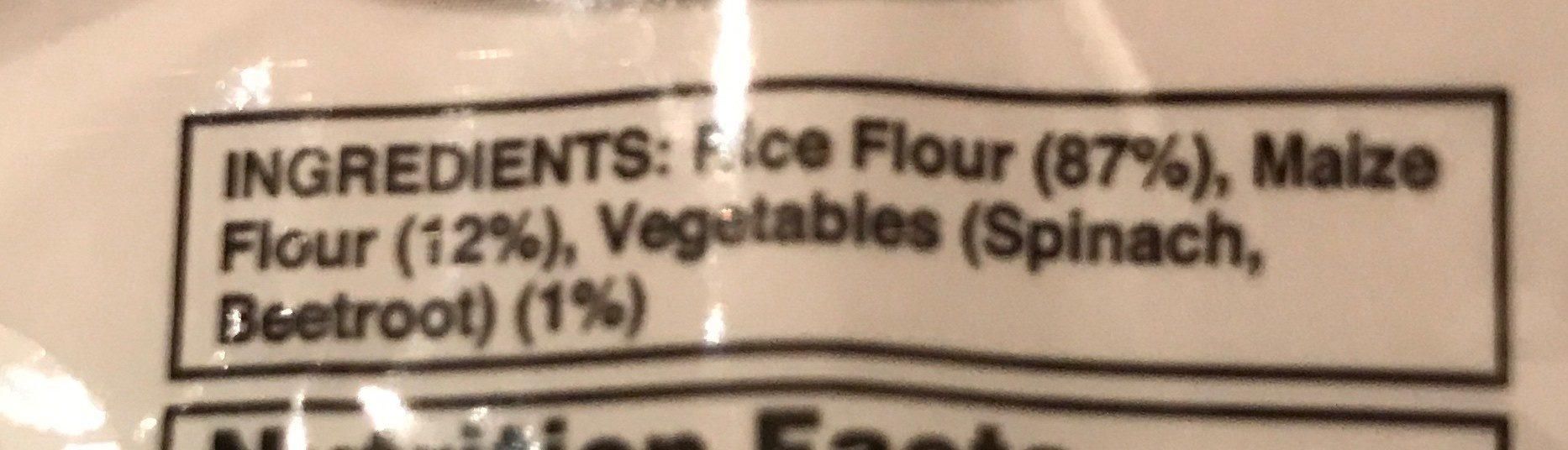 Rice & Corn Vegetable Pasta - Ingredients