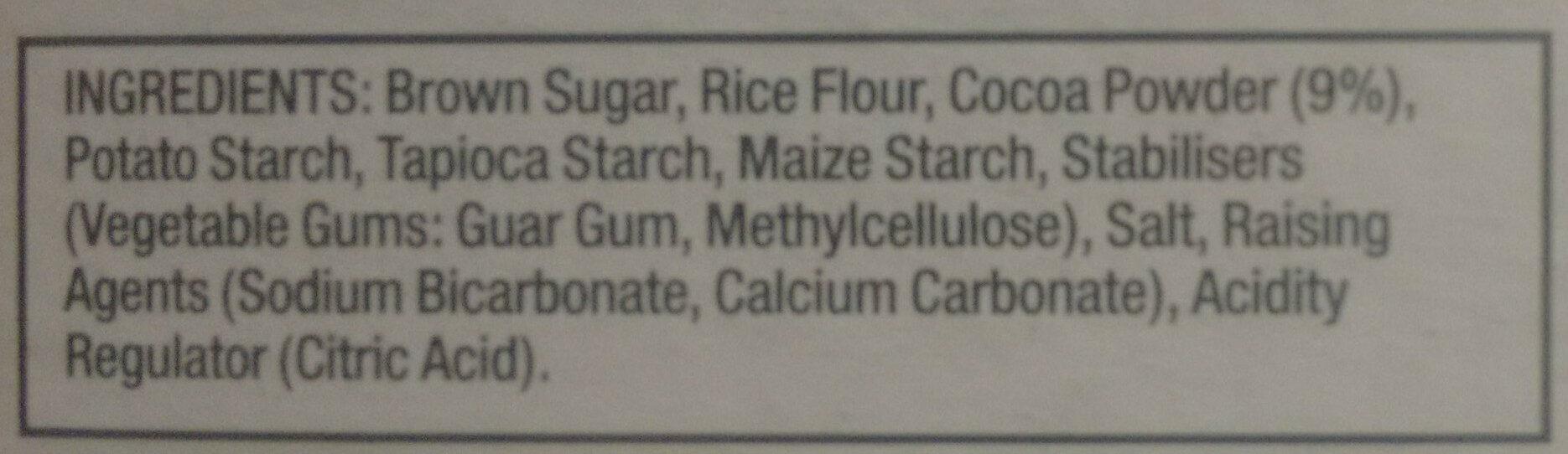 Brownie Mix, Choc Flavoured - Ingredients - en