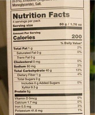 Matcha Sugar Free Cereal - حقائق غذائية - fr