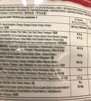 Vegetable rice spirals - Informations nutritionnelles - fr