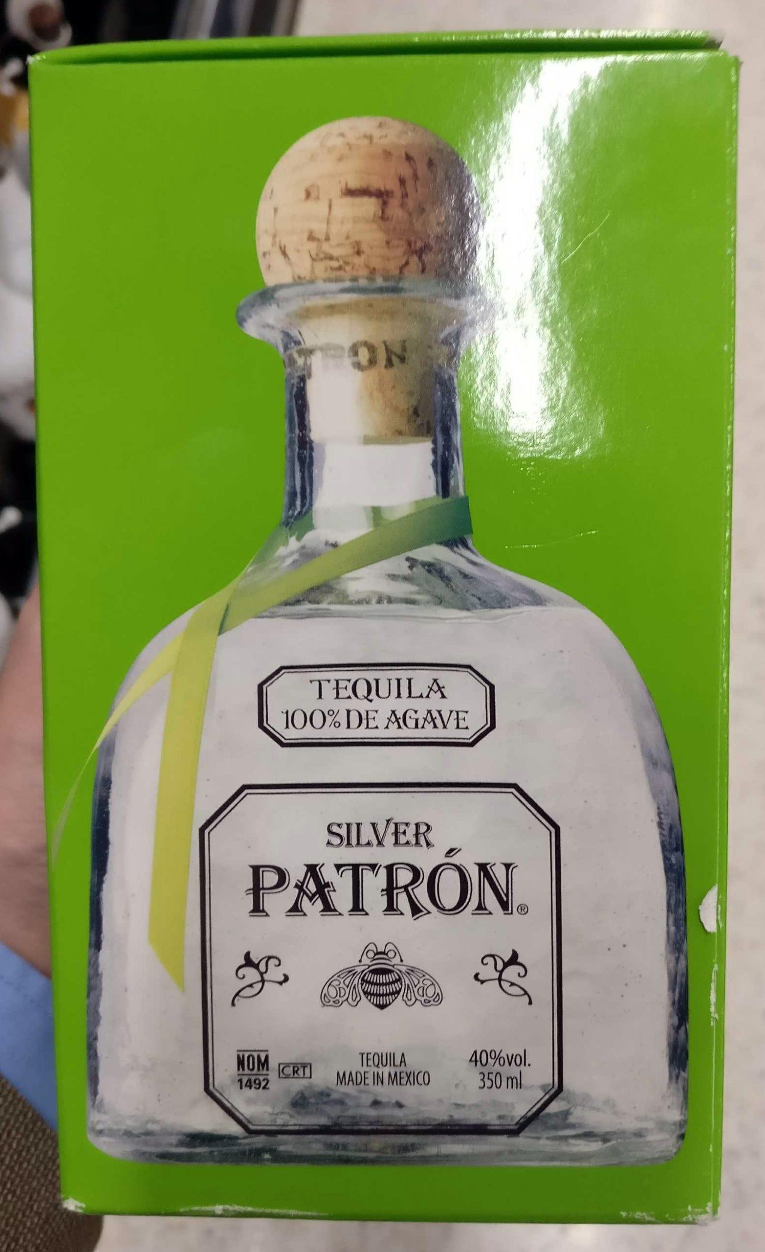 Tequila 100 De Agave Silver Patr 243 N 350 Ml