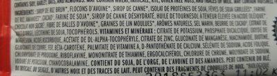 Barre Chocolat, Amandes Et Fudge - Ingrédients - fr