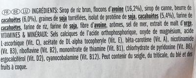 Crunchy Peanut Butter - Ingrédients - fr