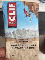 White Chocolate Macadamia Nut Flavour Energy Bar - Produit - fr