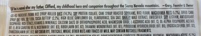 White Chocolate Macadamia Nut Flavour Energy Bar - Ingredients - en