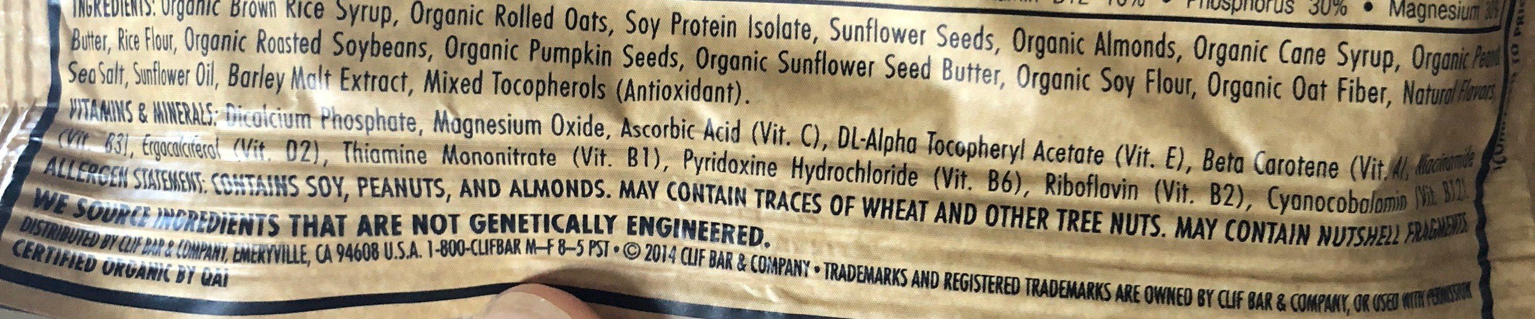 Nuts & seeds - Ingredients