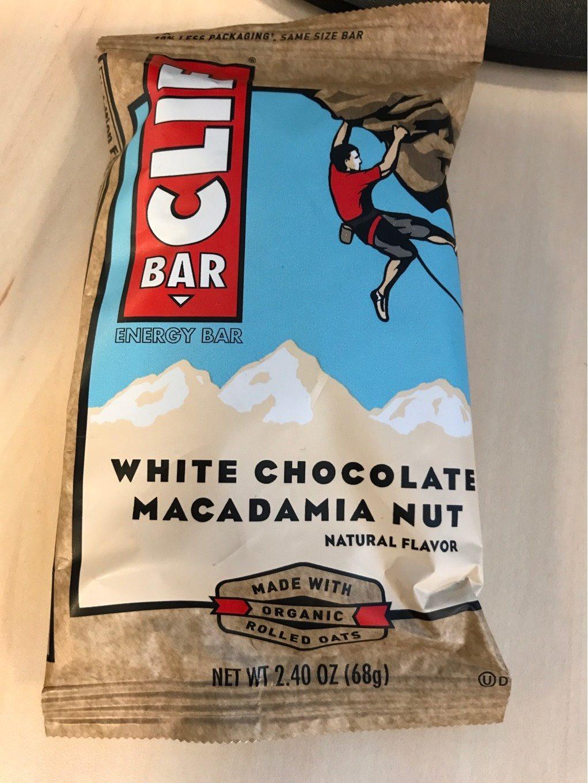 White chocolate macadamia nut energy bar, white chocolate macadamia nut - Produit - fr