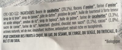 Chocolate peanut butter - Ingredients