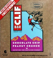 Chocolate chip peanut crunch energy bars, chocolate chip peanut crunch - Product - en