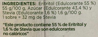Splenda Naturals Stevia - Ingredientes - es