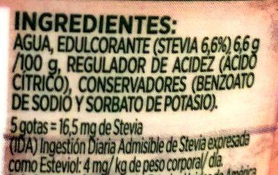 Splenda Naturals Liquido - Ingrediënten