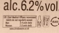 India Pale Ale - Nutrition facts