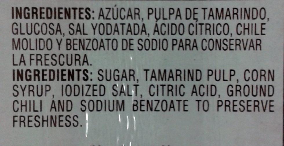 Pulparindo - Ingrediënten - es