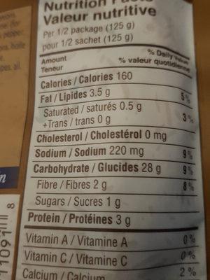 Tila mushroom rice - Nutrition facts - fr