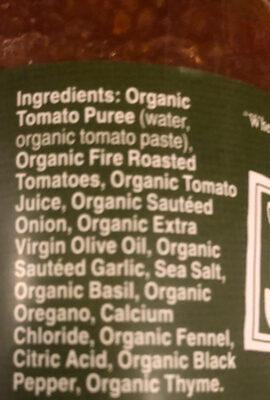 Muir Glen Fire Roasted Tomato Organic Pasta Sauce - Ingredients - en