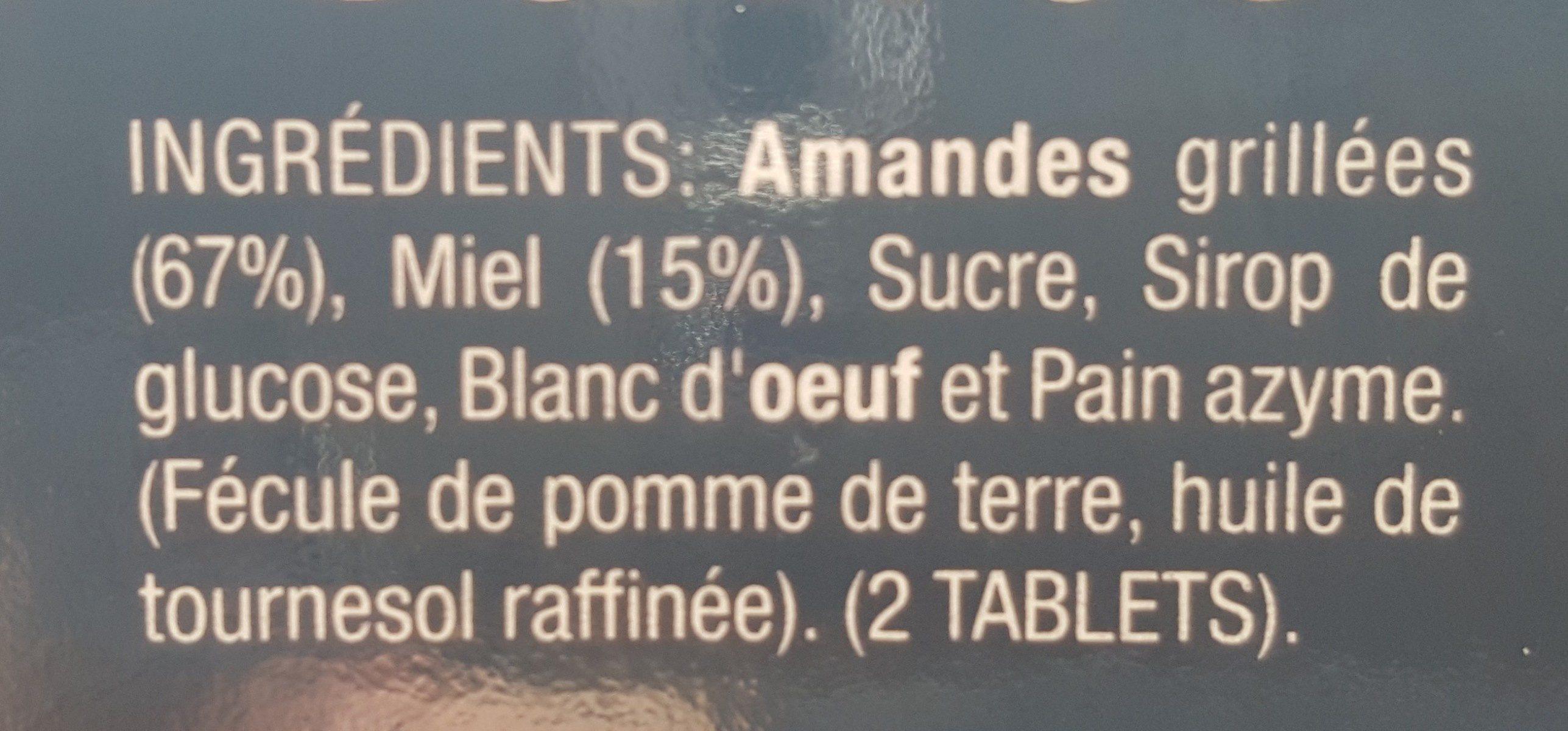 Turron Alicante - Ingrédients - fr