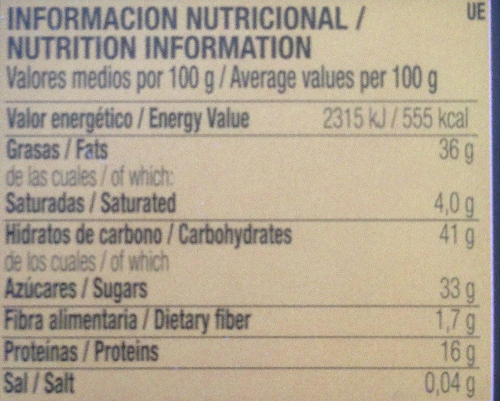 "Torta Turron De Alicante ""Edicion Premium"" - Informations nutritionnelles - fr"