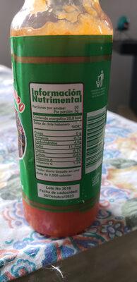Melindas Salsa de Chile Habanero x - Nutrition facts - es