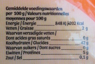 Maïs tortilla (maïs jaune) - Voedingswaarden