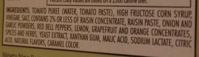 The Original Steak Sauce - Ingredients - en