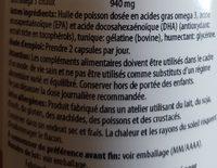 Omega 3 - 100 Caps. De Scitec Nutrition - Inhaltsstoffe
